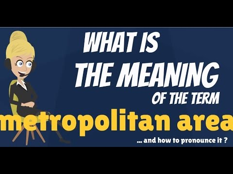 What is METROPOLITAN AREA? What does METROPOLITAN AREA mean? METROPOLITAN AREA meaning