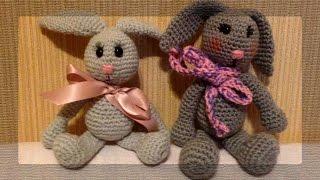 Вязание крючком. Заяц (Crochet bunny). Часть1(Видео-урок по вязанию игрушек крючком. Вяжем зайку. Техника очень простая - все детали вяжутся отдельно..., 2015-03-10T01:51:17.000Z)