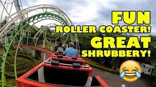 Roller Coasters & Shrubbery! Benyland Jetcoaster in Japan! 八木山ベニーランド - ジェットコースター