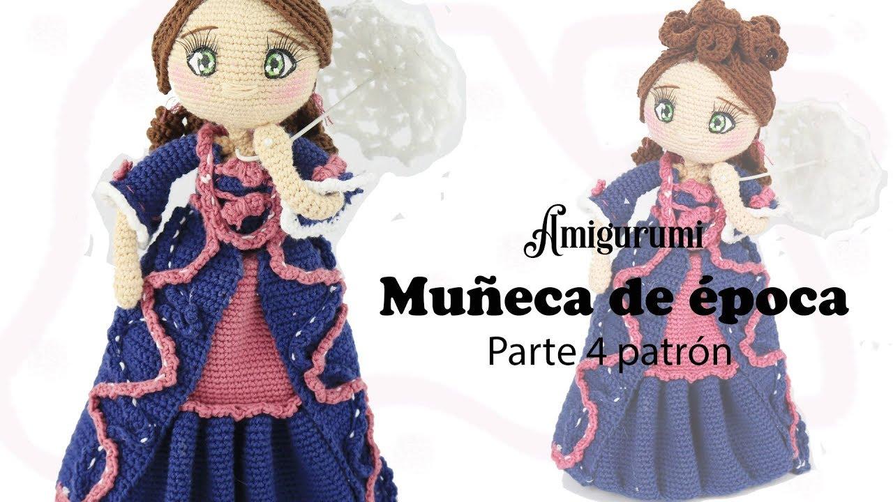 Amigurumi muñeca de época, parte 4/5 patrón gratis - YouTube