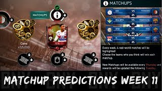 FIFA MOBILE 18 MATCHUPS PREDICTION WEEK 11! ELITE TETE & COINS AT STAKE! NEW FIFA 18 MOBILE EVENT!