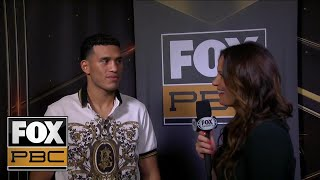 David Benavidez talks with Heidi Androl after heated press conference from Los Angeles | PBC ON FOX