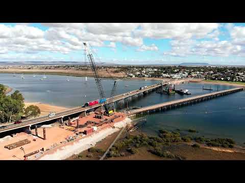 Mavic Air, Port Augusta - new bridge construction, South Australia Drone
