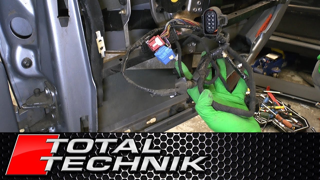 small resolution of how to remove rear door wiring loom audi a6 s6 rs6 c5 1997 2005 total technik