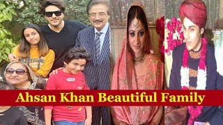 Ahsan Khan With His Family