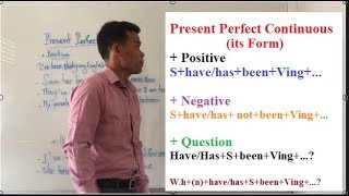 Learning English Grammars: Present Perfect Continuous( Form)