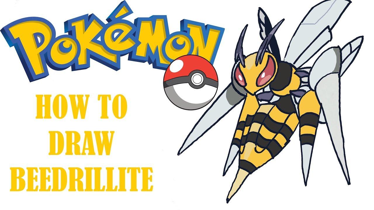 How To Draw Mega Beedrill Beedrillite Mega Pokemon Youtube