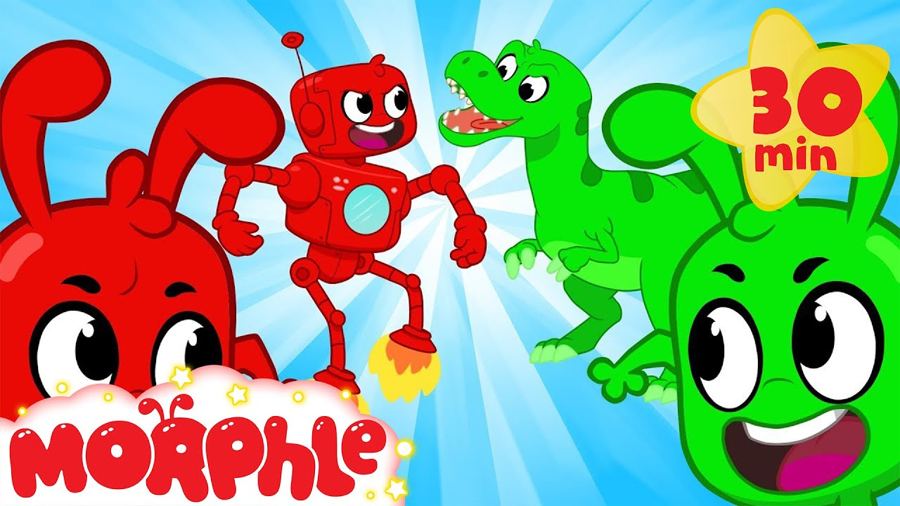 ORPHLE vs MORPHLE - Dinosaurs and Robots | BRAND NEW | Cartoons for Kids | @Morphle TV