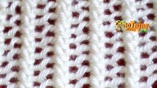 Repeat youtube video Cómo Tejer ENCAJE TEJIDO - Lace Stitch  2 Agujas (18)