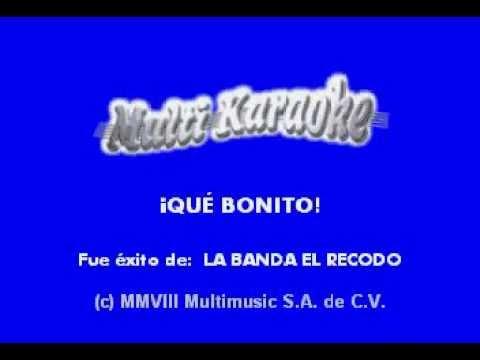 Que bonito    KARAOKE   COMO EL RECODO   YouTube