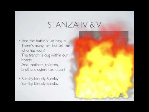 Sunday Bloody Sunday Poetry Analysis Presentation