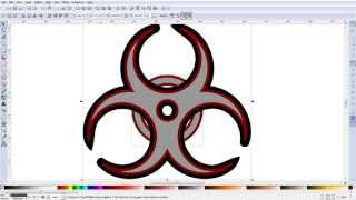 Inkscape: making a biohazard symbol