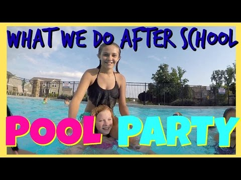📲WHAT DO WE DO AFTER SCHOOL📲 |👙 POOL PARTY👙 | Emma & Ellie