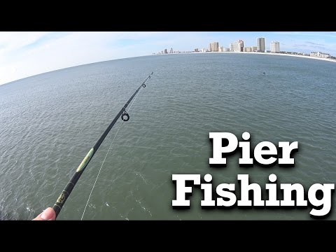 Beginner Pier Fishing - Gulf State Park Pier in Gulf Shores AL