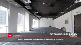 Fitted Office for Sale with Burj Khalifa View and Big Terrace, Bay Square, Business Bay
