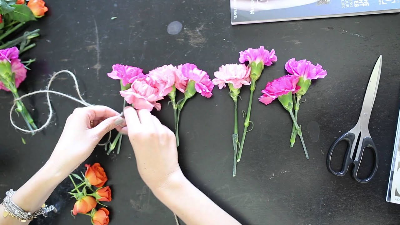 How To Easy Flower Garland Youtube