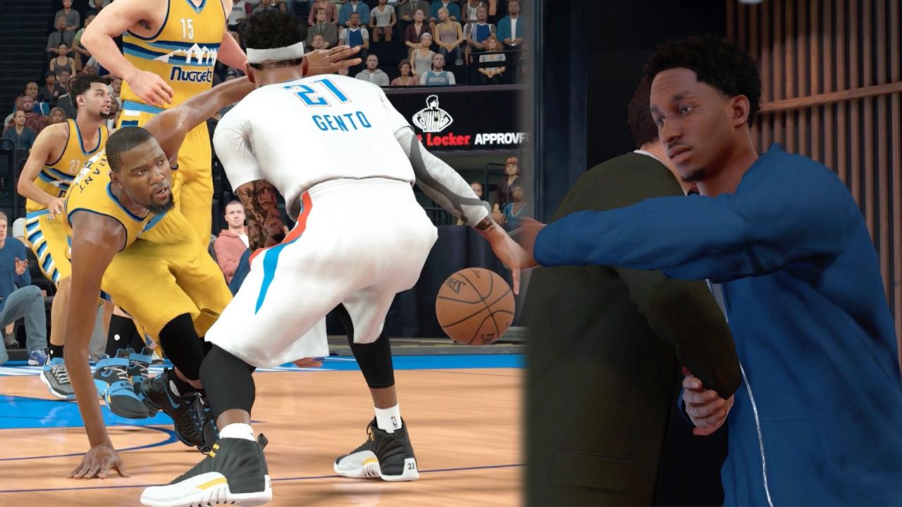 294d0136563 NBA 2k17 MyCAREER - Denver s Back ! Kevin Durant s New Team + 4 Mean Ankle  Breakers! Ep 132 - YouTube