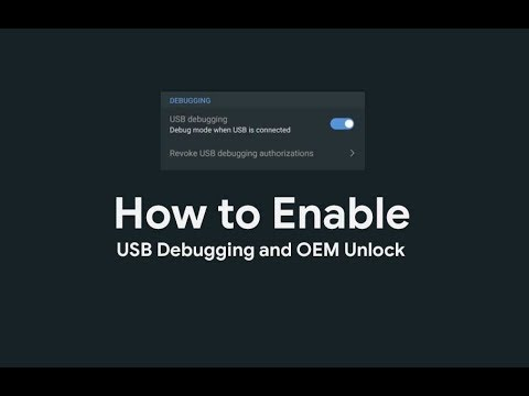 How to Activate Developer Option, Enable USB Debugging and OEM Unlock