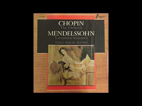 "Abbey Simon plays Mendelssohn ""Variations Serieuses"" Op. 54 (1972) New Transfer"