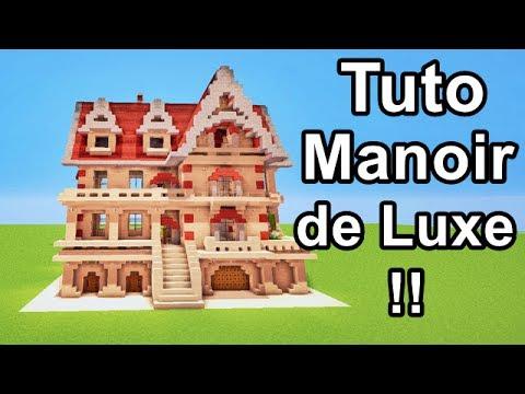 Comment faire un manoir de luxe sur minecraft tuto youtube for Maison de luxe plan