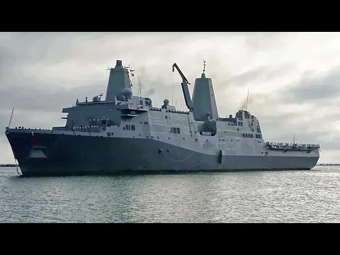 The USS New York & Crew Returns To Naval Station Mayport
