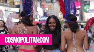 Meet The Topless Women Of Times Square (NSFW) | Cosmopolitan