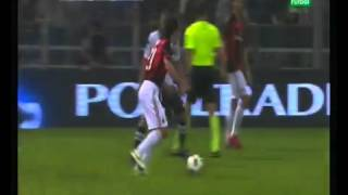 Гол Пирло 2.10.2010. Парма - Милан 0_1 Роналдиньо в шоке