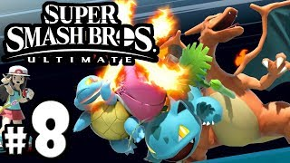 Super Smash Bros Ultimate - Pokemon Trainer Guide - Red VS Leaf - Switch Gameplay Walkthrough PART 8