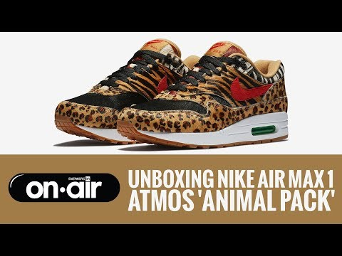 SBROnAIR Vol. 57 - Unboxing Nike Air Max 1 X atmos 'Animal Pack 2.0' - #piranomeuair
