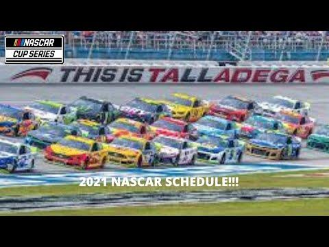 My 2021 NASCAR Schedule!!!