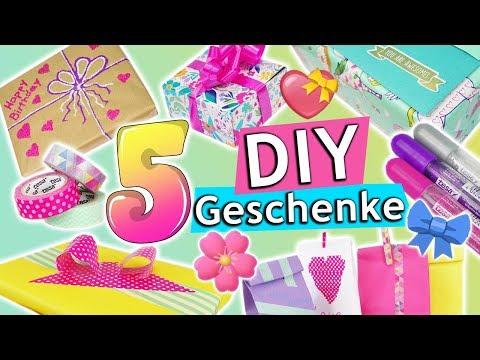 DIY GESCHENKE verpacken | 5 kreative Ideen: Geburtstag Überraschung Aufbewahrungen | TESA *Werbung