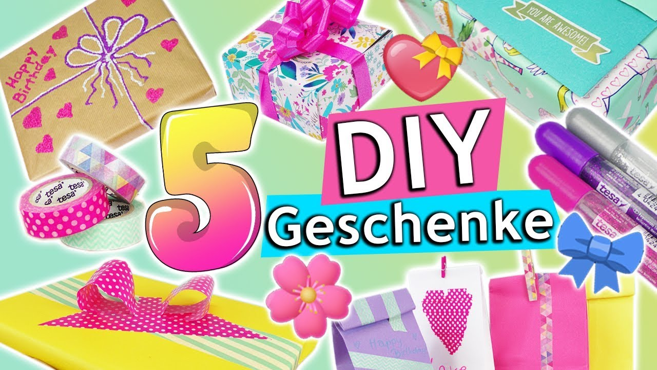 diy geschenke verpacken 5 kreative ideen geburtstag berraschung aufbewahrungen tesa. Black Bedroom Furniture Sets. Home Design Ideas