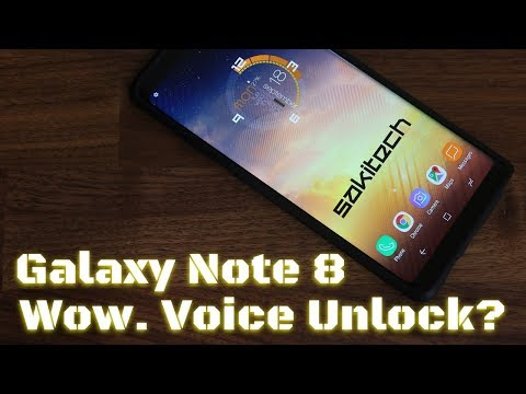 Unlock your Samsung Galaxy Note 8 using a Voice Password