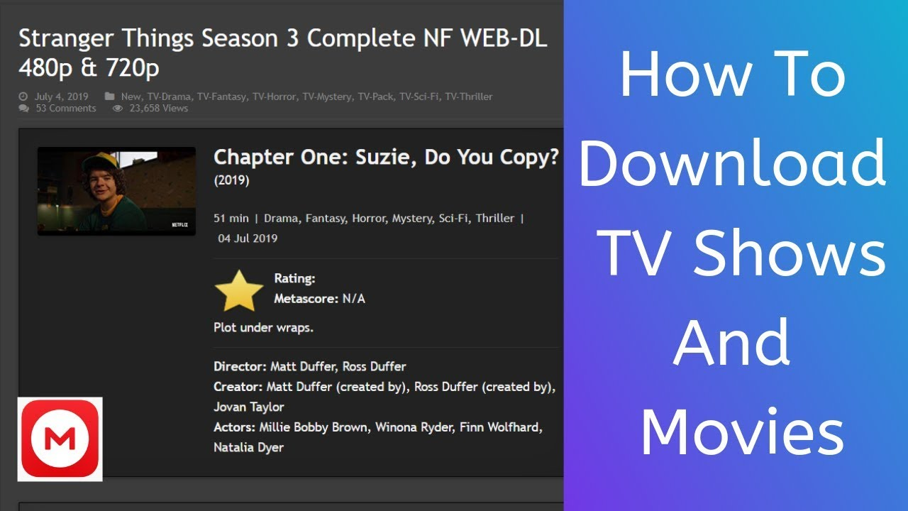 Download How to Dowload Movies and TV Shows in HD Quality | How to Download Stranger Things Season 3
