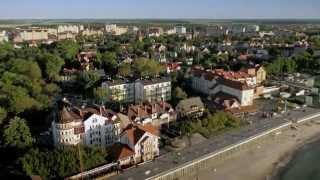 Красивейший Зеленоградск снят с вертолета.
