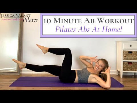 10 Minute Ab Workout Pilates Abs at Home!