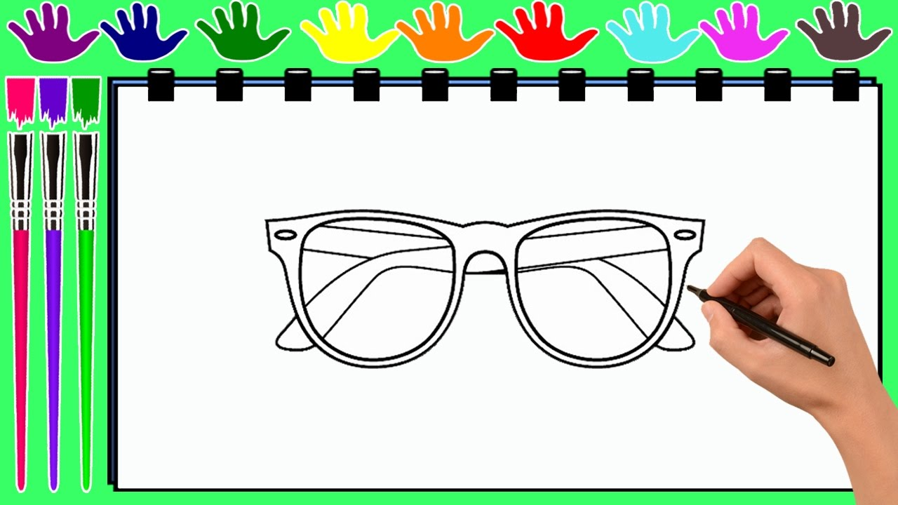 Coloring Pages BEAUTIFUL GLASSES
