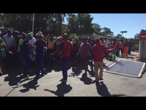 Ladysmith - Municipal workers take over buildings