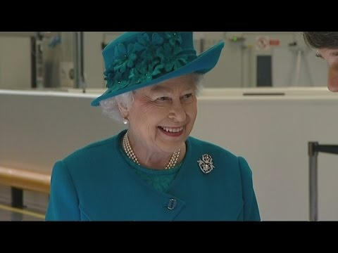Queen officially opens Jaguar Land Rover