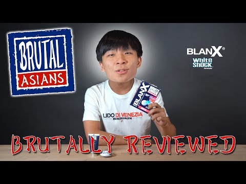 INSTANT WHITENING TOOTHPASTE!?!? Brutal Asians Reviews BlanX