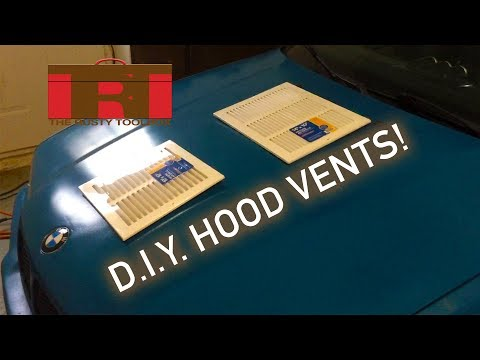 DIY Hood Vents! Cooling off the LS1 BMW   The Rusty Toolbox