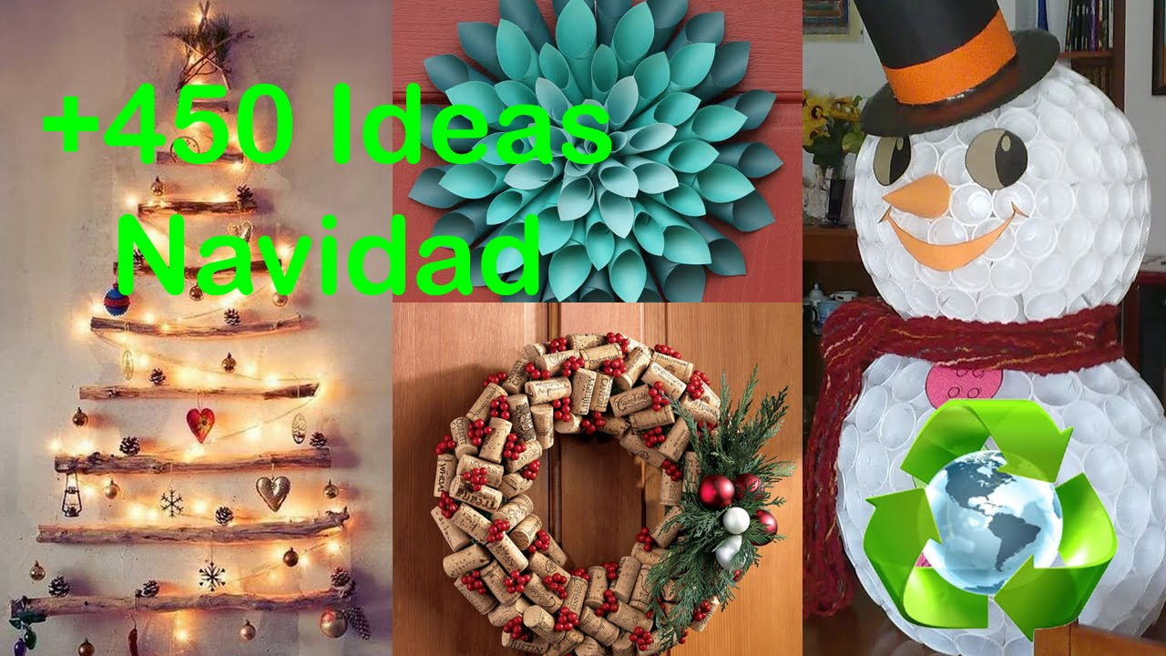 Decor christmas ideas recycled youtube for Decoracion para el hogar adornos