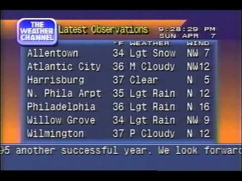 Local Forecast Playback - Apr 1996