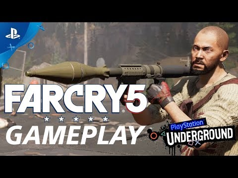 Far Cry 5 Open World Gameplay demo | PS Underground