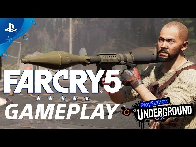 Far Cry 5 Open World Gameplay demo | PS Underground