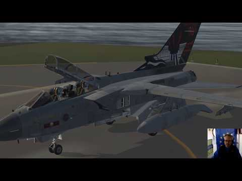 Flight around the British Virgin Islands. BVI. Tornado GR4.