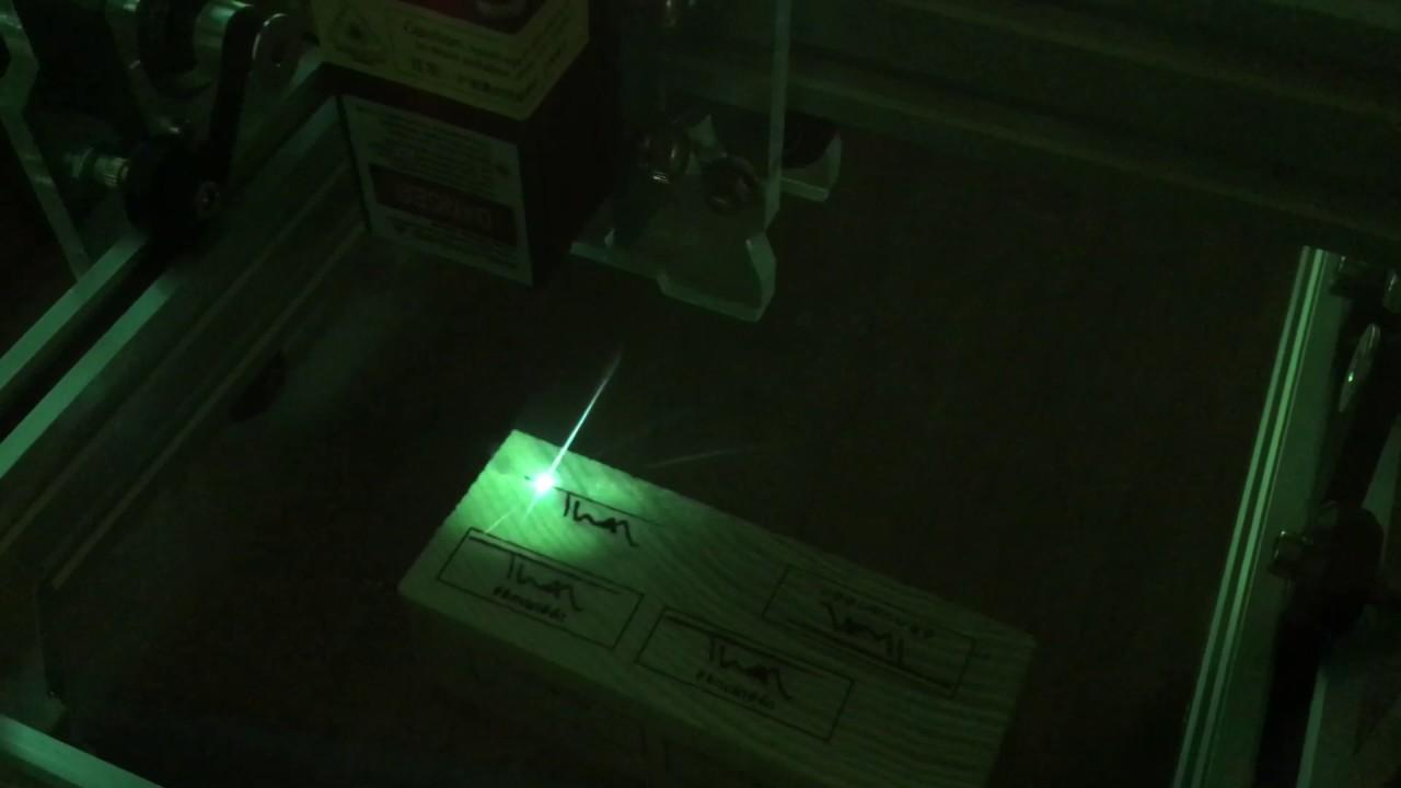 Testrunning Eleksmaker a5 2,5w laserdiode with LaserWeb4