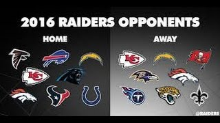 Oakland Raiders 2016 Schedule