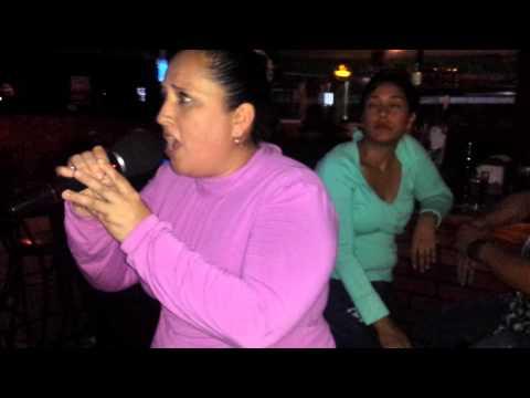 Sandra Guevara  Señor Amante Camp Nac Karaoke 2015 Bar Rancho Santa Ana.