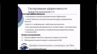 Тестирование эффективности средств внутреннего контроля в компании(Данное видео является частью видеокурса